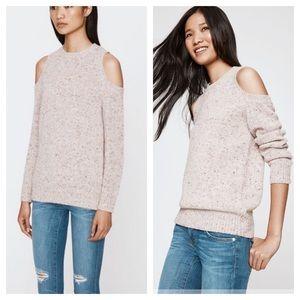 Rebecca minkoff cold shoulder speckled sweater